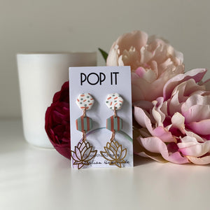Lotus Studs from Pop It Handmade