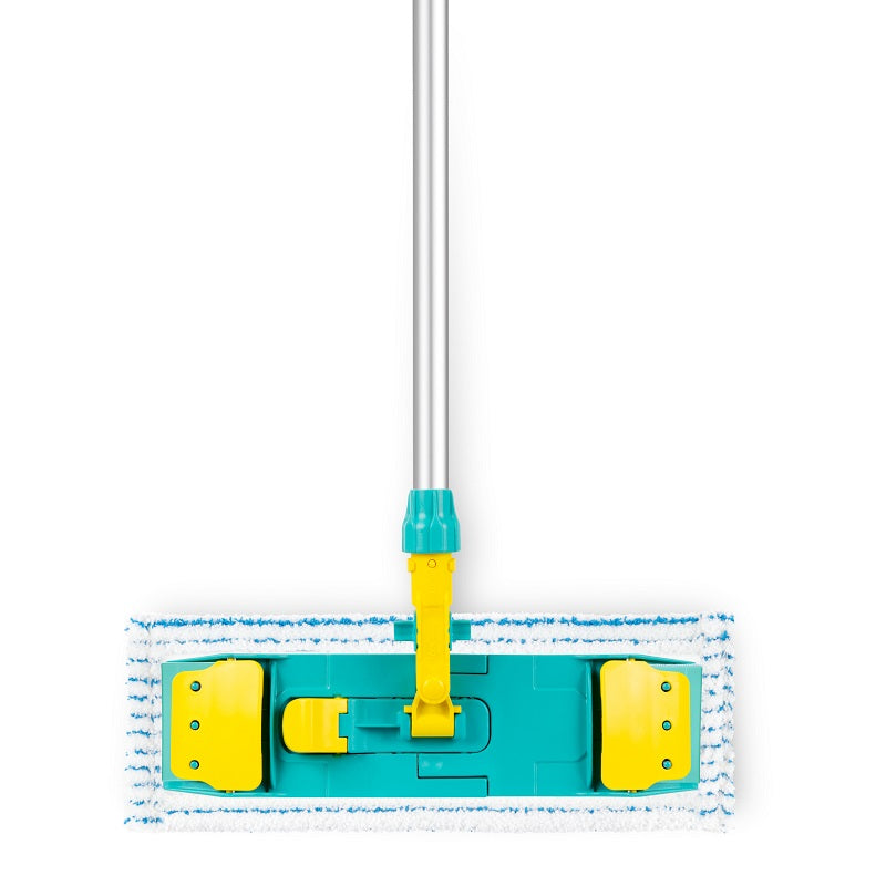 Wet system flat mop Soft Striat met support polyester