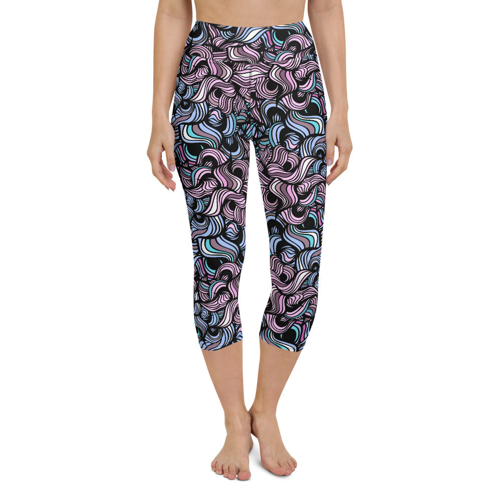 Laurë High Waisted Capri Yoga Legging by adaneth