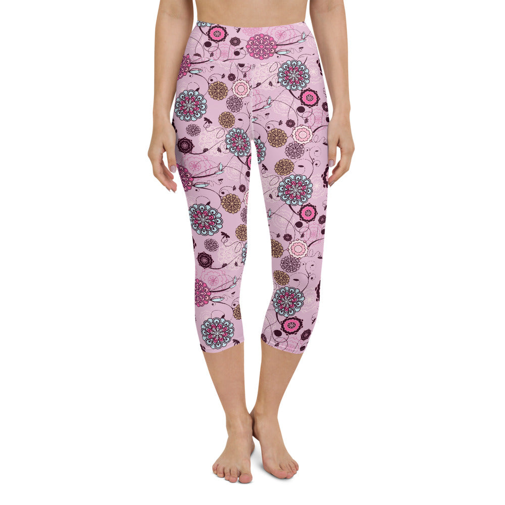 Calima High Waisted Capri Yoga Legging by adaneth