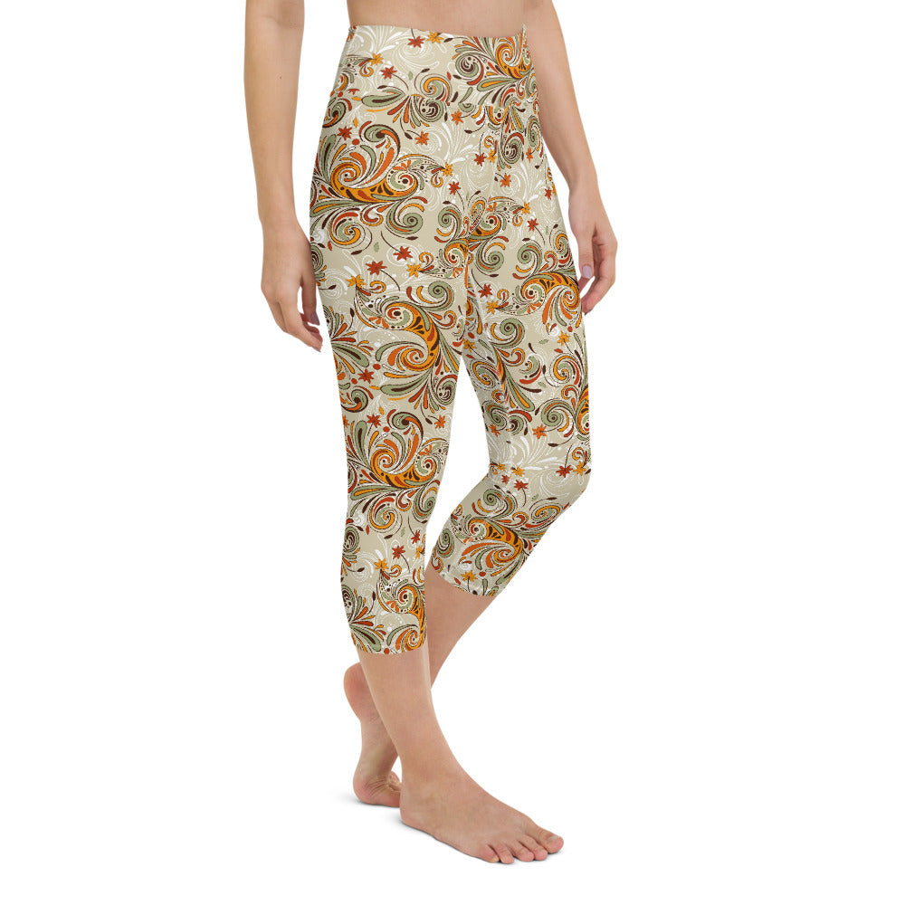 Eryn High Waisted Capri Yoga Legging by adaneth