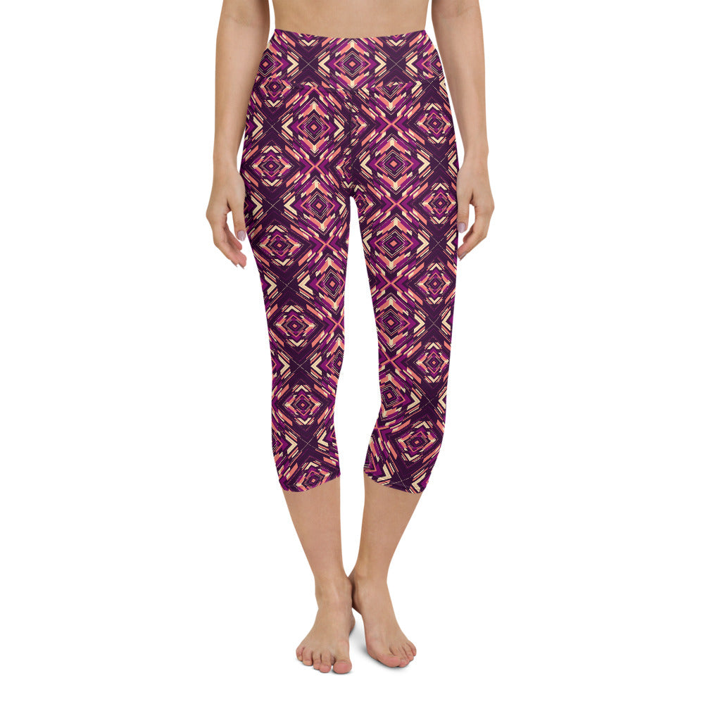 Rindë High Waisted Capri Yoga Legging by adaneth