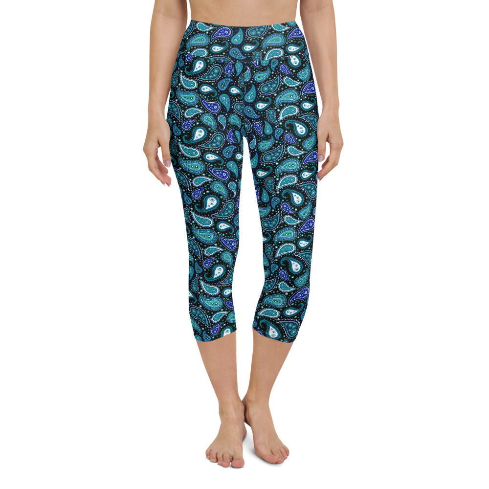 Malina High Waisted Capri Yoga Legging by adaneth