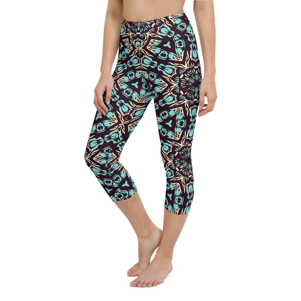 Luin High Waisted Capri Yoga Legging by adaneth