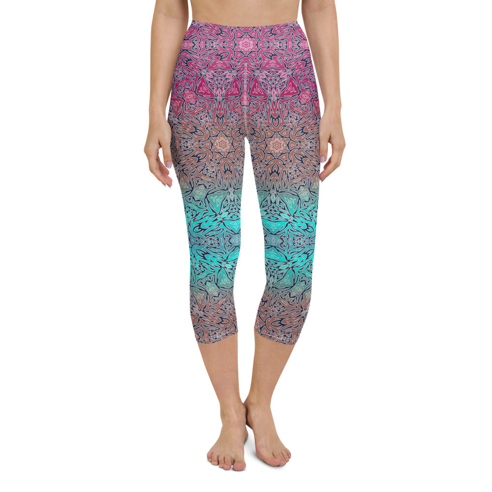 Nardi High Waisted Capri Yoga Legging by adaneth