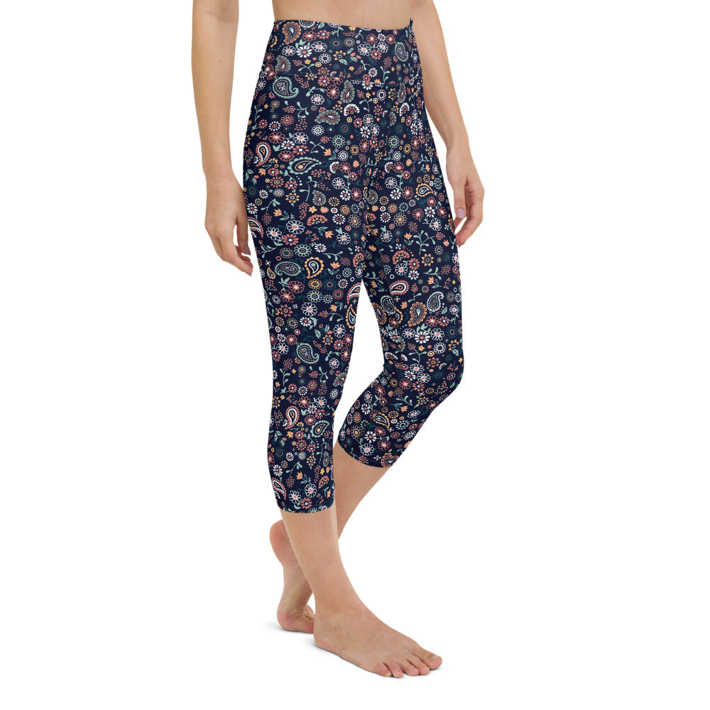 Elanor High Waisted Capri Yoga Legging by adaneth