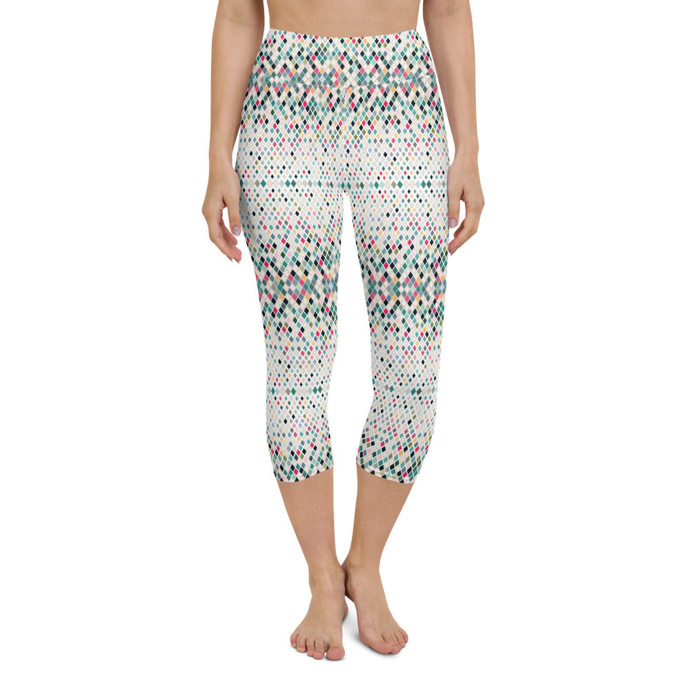Bennas High Waisted Capri Yoga Legging by adaneth