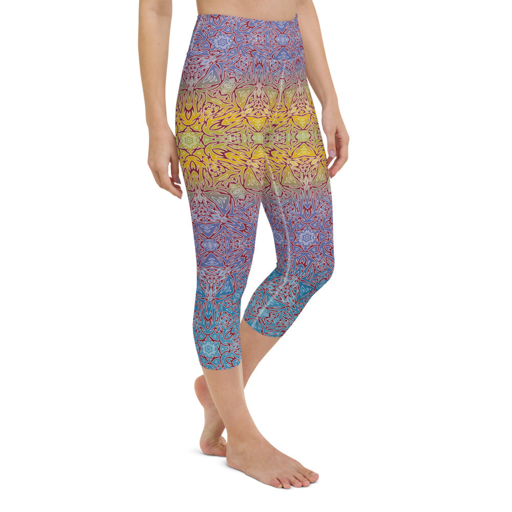 Meril High Waisted Capri Yoga Legging by adaneth