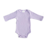 LONG SLEEVE RIBBED BODYSUIT // LAVENDER