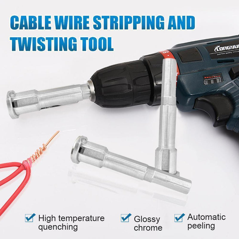 Cable Wire Stripping And Twisting Tool