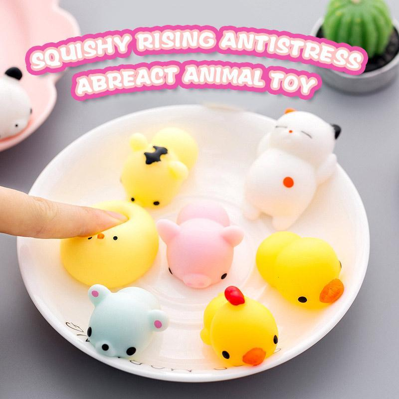 Squeeze Toy-Mini Colorful Animal Antistress Ball (7pcs)