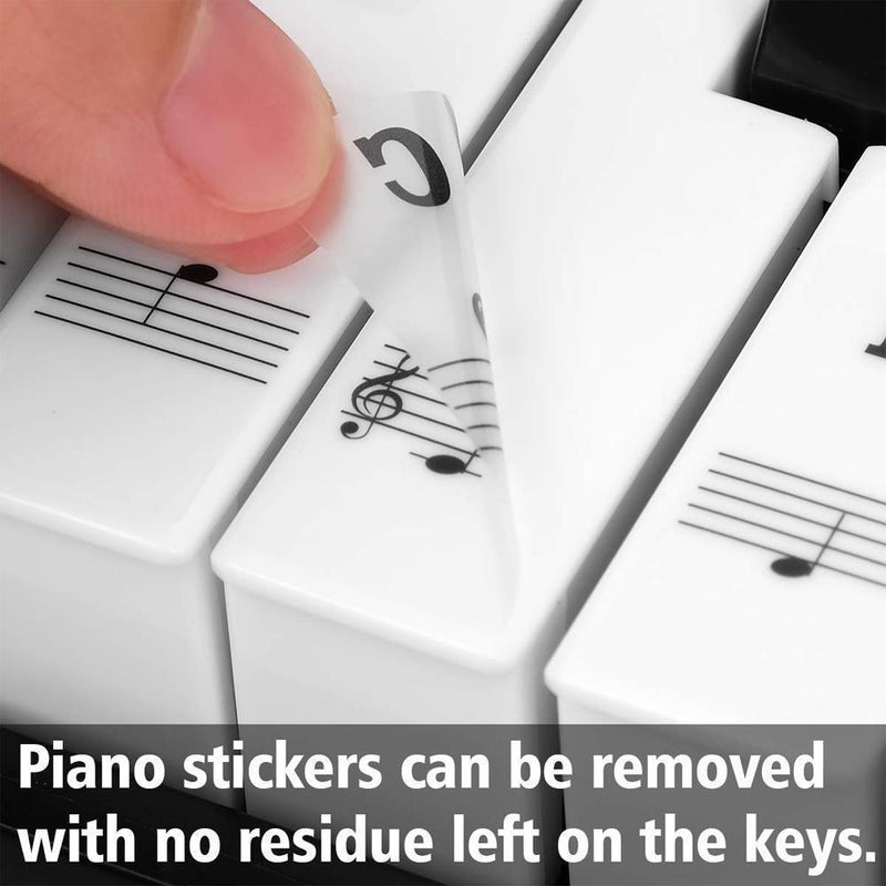 Piano Key Note Stickers