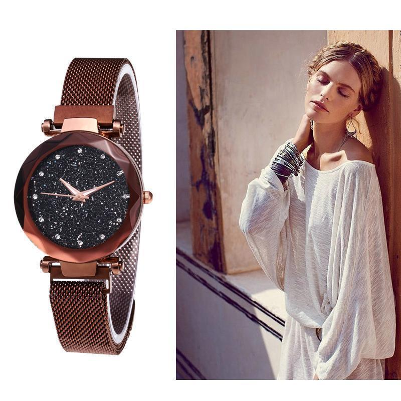 Waterproof Starry Sky Girl Wristwatch