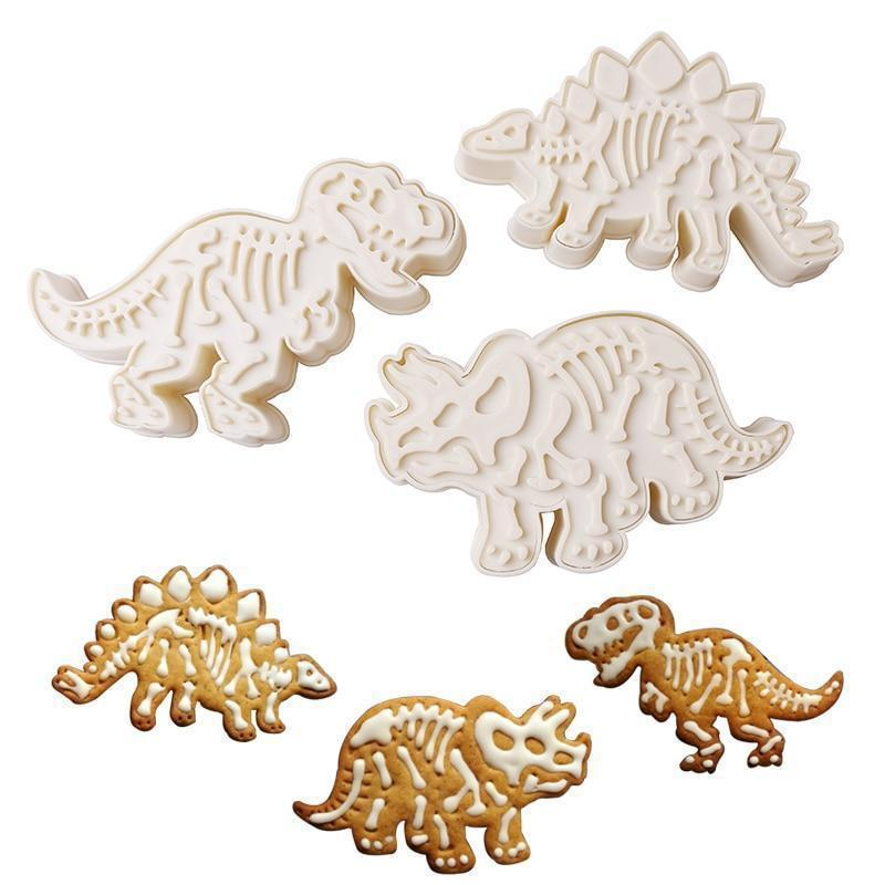 Glowsky™ Dinosaur Cookie Molds(3 pics/set)