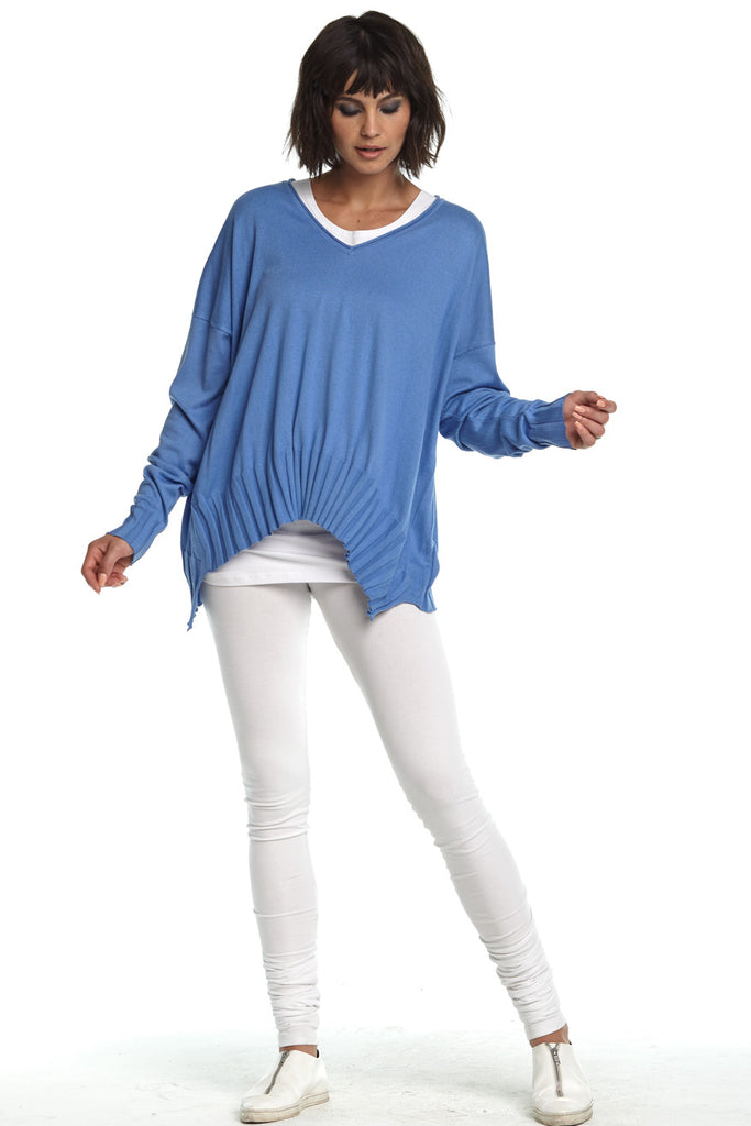 Planet V Ribbed Pima Sweater
