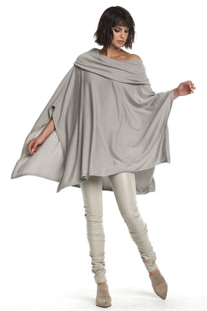 Planet Cowl Poncho Sweater