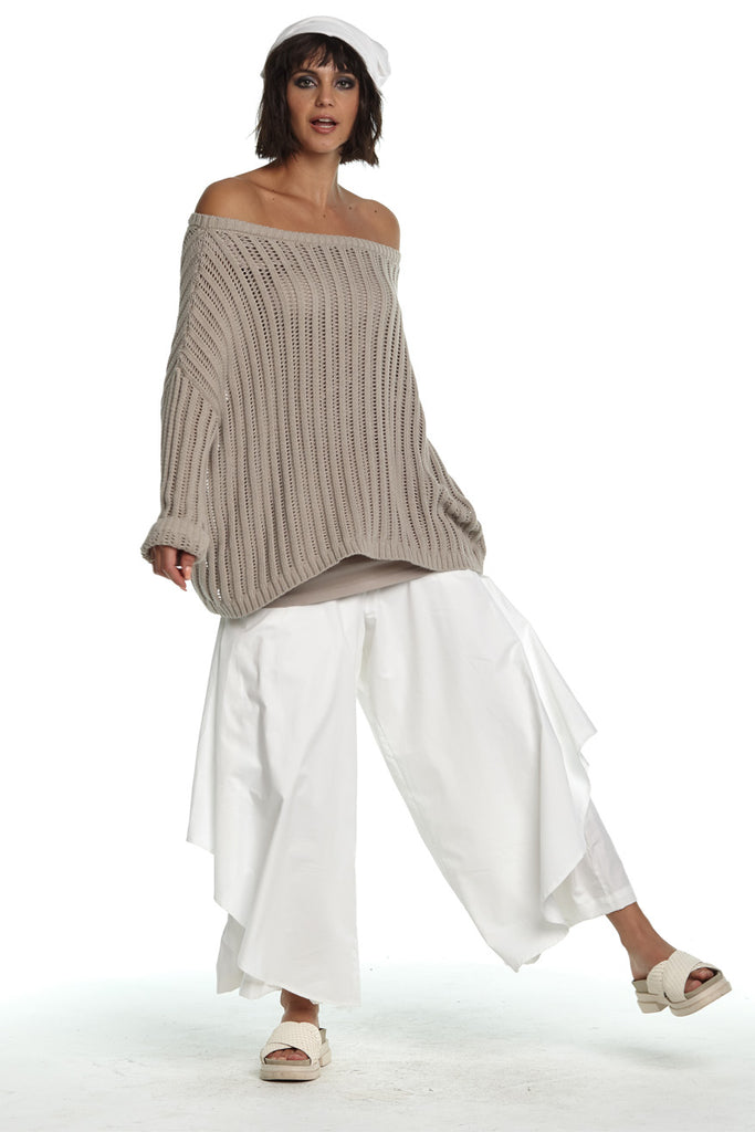 Planet Off Shoulder Knit Sweater