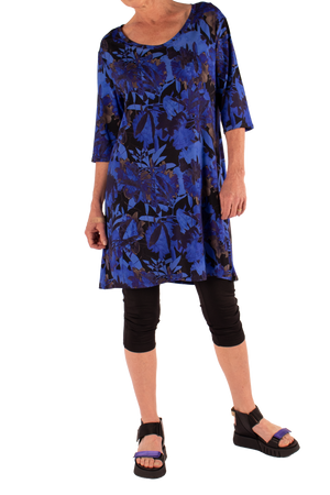 Marilyn Dress Tropical Blue