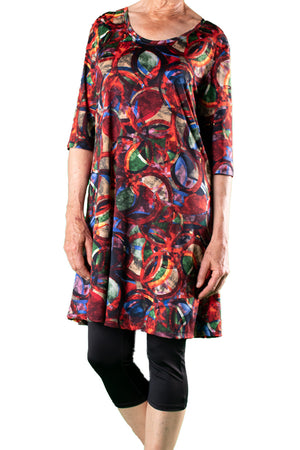 Marilyn Dress Rainbow Circles