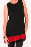 Audrey Frilly Tank - Ebony/Passion - One Size