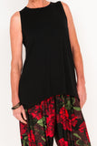 Marigold Sleeveless Tank - Ebony - One Size