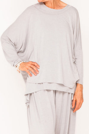 Doris Viscose Boxy Top - Cloud - One Size