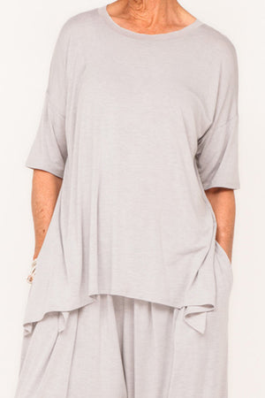 Gladys 1/2 Sleeve Tee - Cloud - One Size
