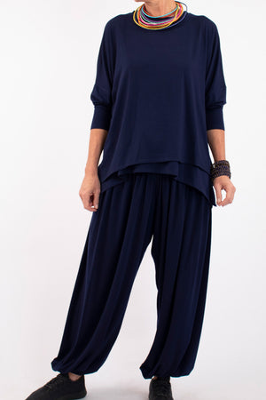 Edna Full Active Pants - Midnight Blue - One Size