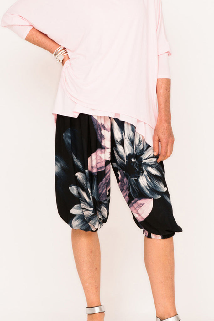 Phyllis Bloomin Active Pants - Selena Pink Floral - One Size