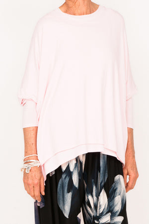Doris Viscose Boxy Top - Blush - One Size