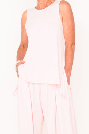 Marigold Sleeveless Tank - Blush - One Size