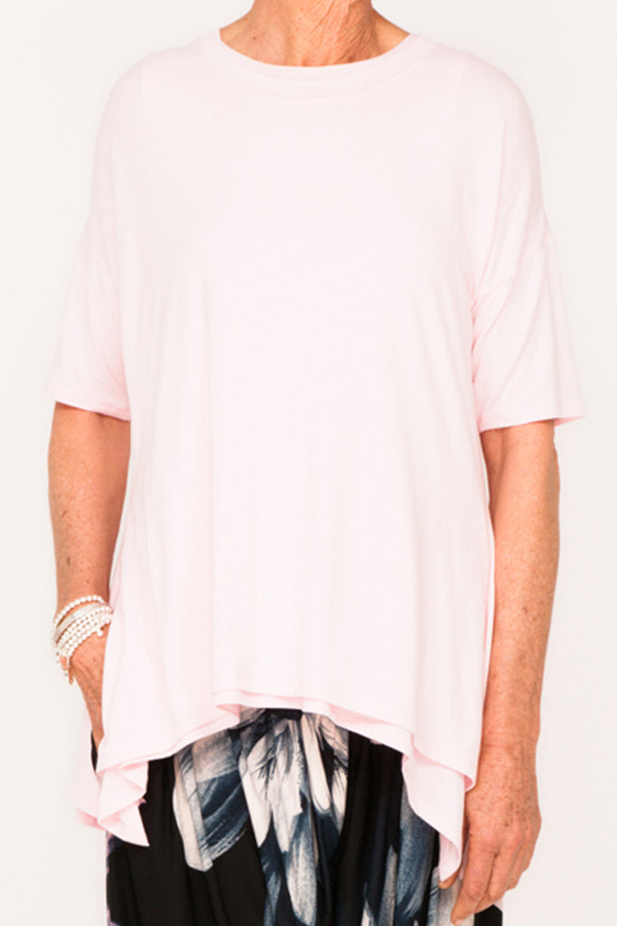 Gladys 1/2 Sleeve Tee - Blush - One Size