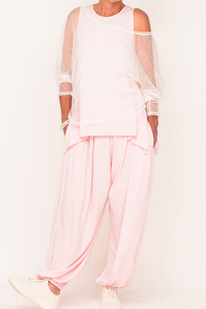 Edna Full Active Pants - Blush - One Size