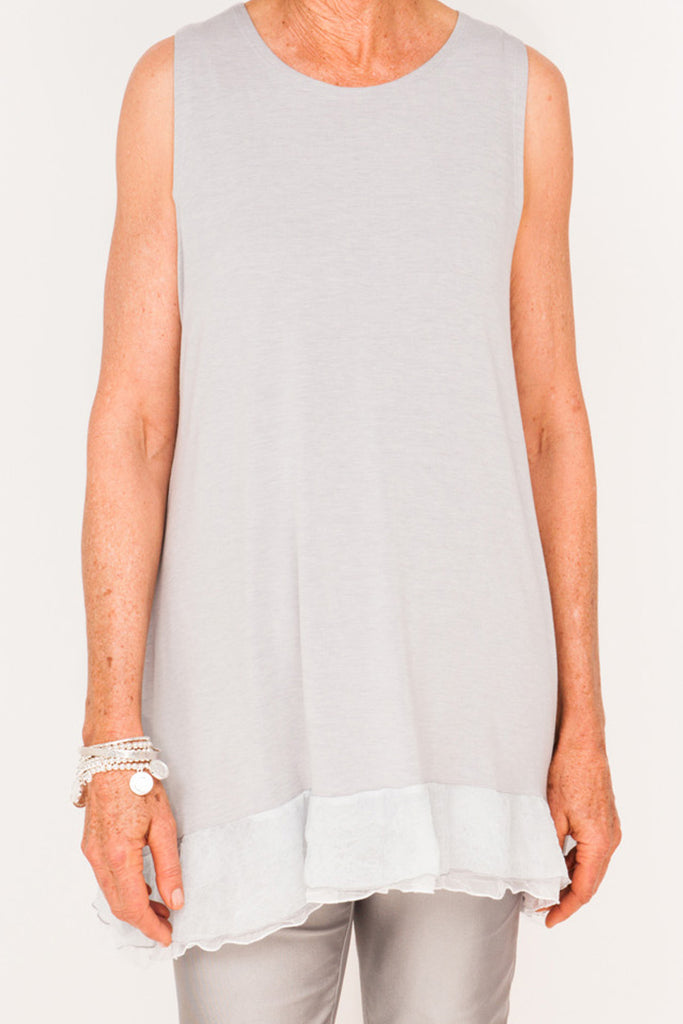 Audrey Frilly Tank - Cloud/Lily - One Size
