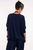 womens-navy-sweater-womens-boxy-tops-ladies-exercise-clothes