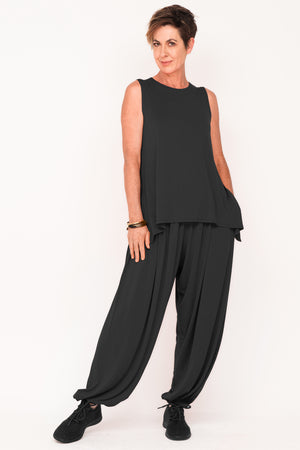 Edna Full Active Pants - Ebony - One Size