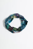 Lola Neck Scarf - Petrol City Skyline - One Size