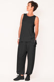 active-wear-sleeveless-tank-ebony-black-edna-pant-travel-wear