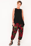 marigold-tank-ebony-one-size-spanish-dancer-track-pant-womens-designer-athleisure