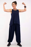 Marigold Sleeveless Tank - Midnight Blue - One Size