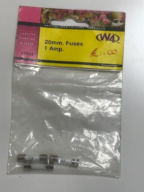 1 Amp 20 mm Fuse Pack of Three 37532