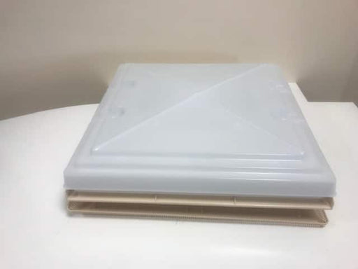 MPK 400 X 400 Rooflight Complete with Flynet - Beige - 900081 - Caratech Caravan Parts