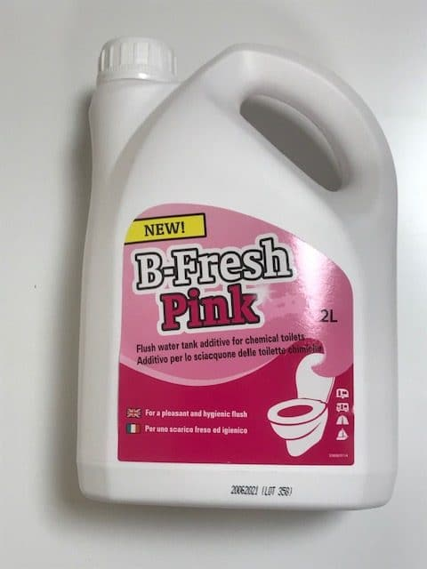 B-Fresh Toilet Kem - Pink Rinse - 2lt. - Caratech Caravan Parts