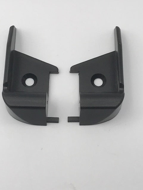 Polyplastic - Black Hinge Bar End Caps - 9008310000 - Caratech Caravan Parts