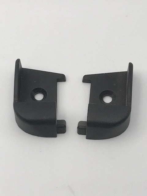 Polyplastic - Black Hinge Bar End Caps - 9008380000 - Caratech Caravan Parts