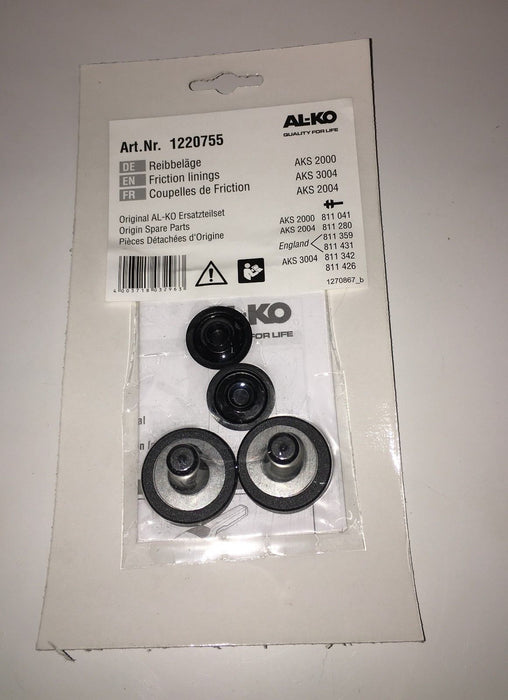Alko AKS Stabiliser Friction Pads Kit – 1220755 - Caratech Caravan Parts