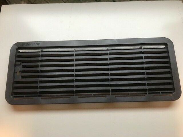 Dometic Fridge Lower Grill / Vent + Mesh - LS200 - Dark Grey - 4205 - Caratech Caravan Parts