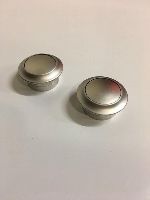2 X Large Push Button Locker Knobs – Matt Silver -22901613 - Caratech Caravan Parts