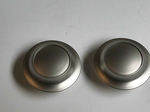 2 X Large Push Button Locker Knobs – Matt Silver -22901604 - Caratech Caravan Parts