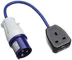 240 Volt Mains Conversion Lead To 13 Amp Socket - PO107B - Caratech Caravan Parts